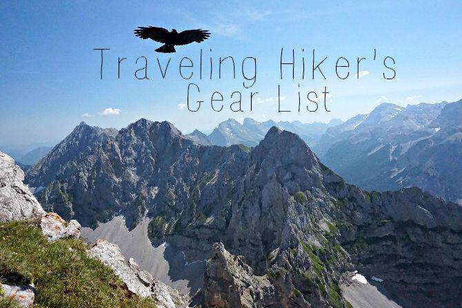 travel gear list